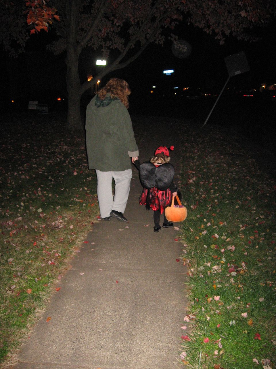 Amelia and Mommy Trick-or-Treating