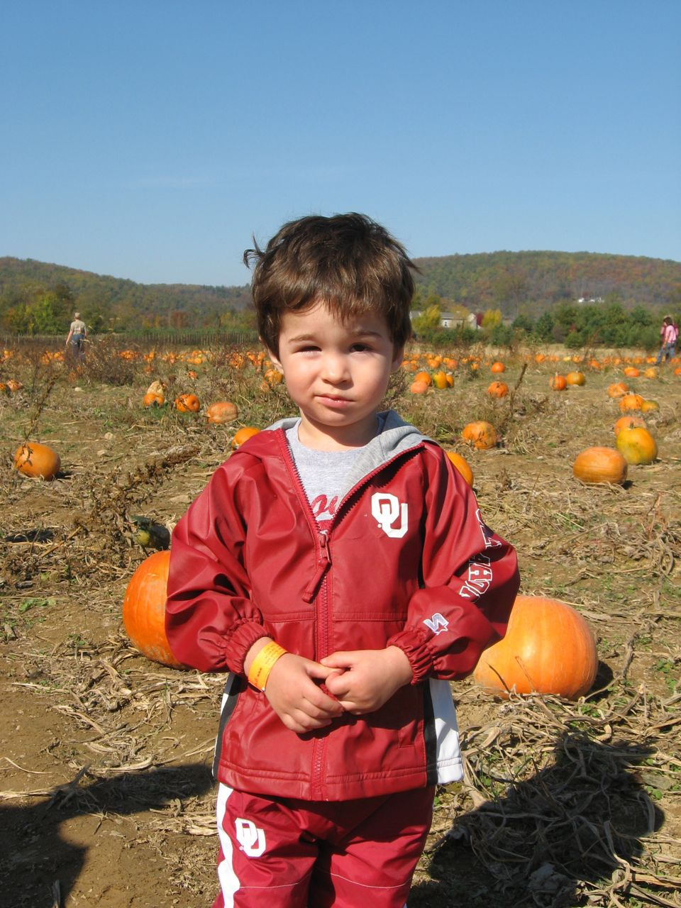 Nathan in the Pumpkin Patch
